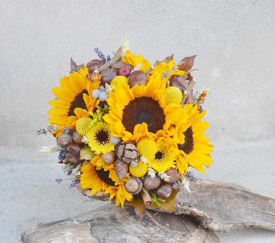 Buchet Mireasa Floarea Soarelui Flowers Garden