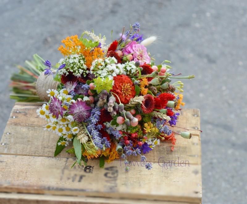 Buchet Mireasa Cu Flori De Camp Madalina Flowers Garden