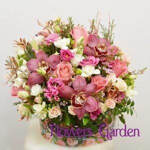 Aranjament floral Culori Pastel